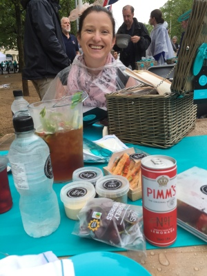 Some of our wonderful picnic hamper (and lots of Pimm's!)